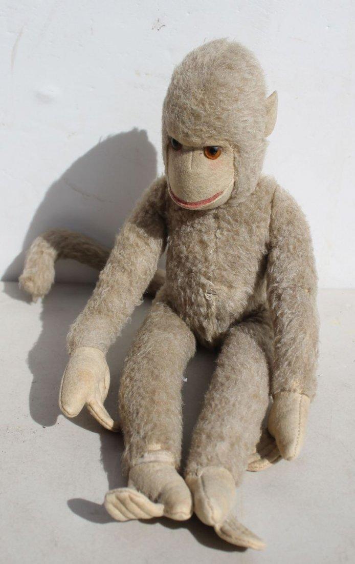 Vintage Steiff jointed mohair & wool felt monkey w