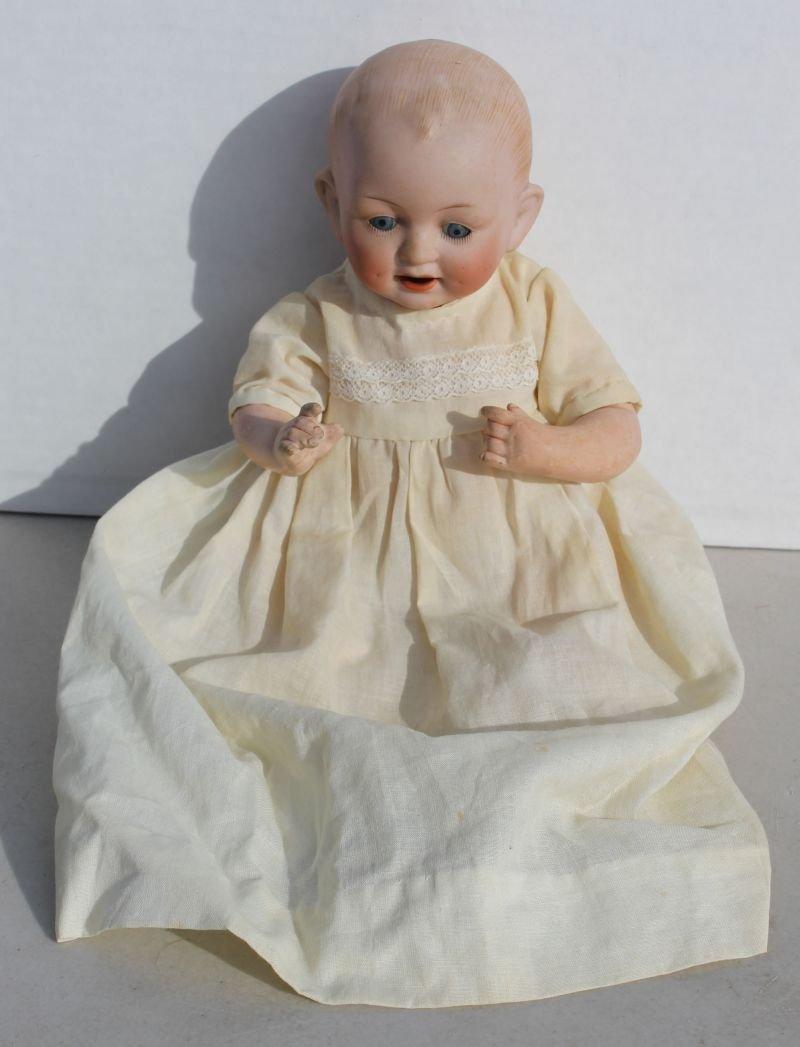 ca 1910 German bisque head baby doll by Cutterfelder