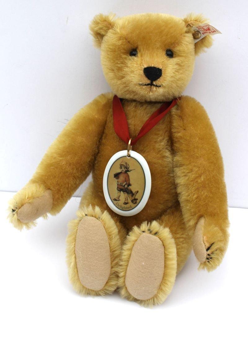 Vintage Steiff mohair jointed hump back teddy bear w