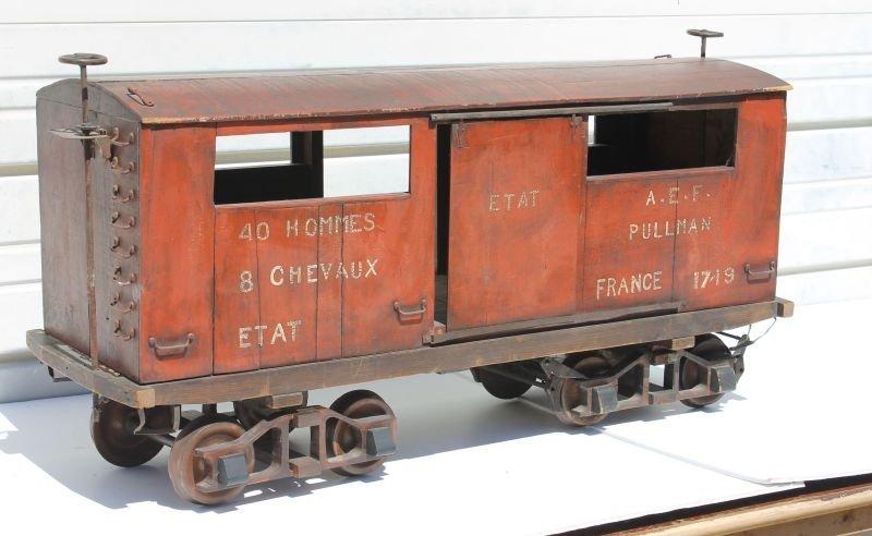"ca 1918 Pullman Car Co. 3' scale model of the ""40 men"