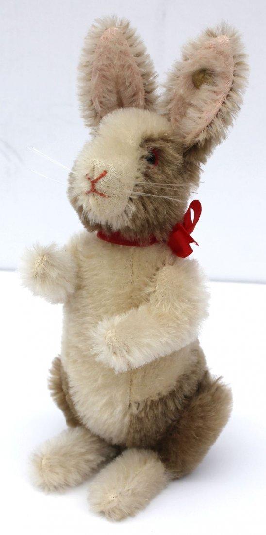 vintage Steiff mohair jointed rabbit w glass eyes &