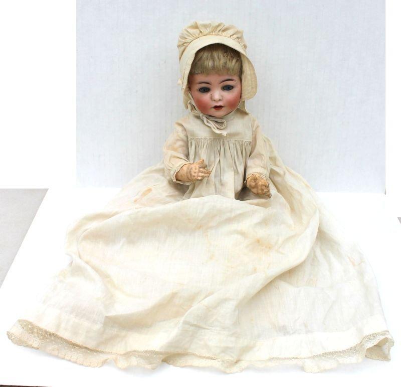 ca 1915-1925 German bisque head baby doll on bent leg