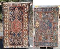 2 antique Oriental area rugs  a 25x310 Caucasian