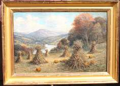 """indistinctly sgnd 16""""x24"""" o/c antique very well"""