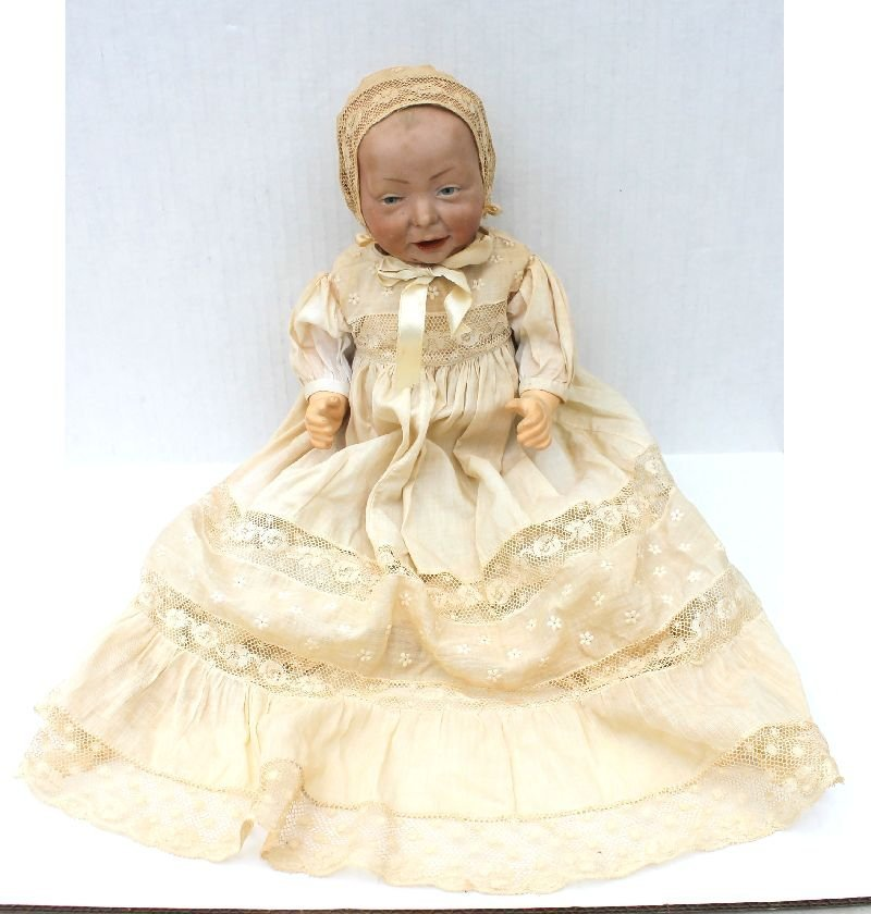 ca 1918-1924 K-R 100 Kaiser character baby doll on bent