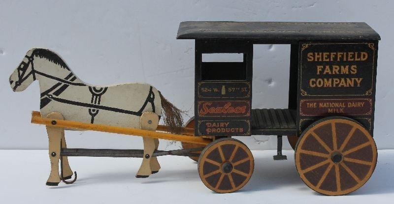 Excellent antique horse drawn Sheffield Farm's Company