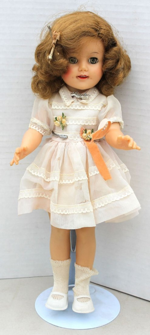"ca 1955-1961 vinyl ""Shirley Temple"" vinyl doll w sleep"