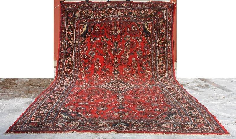 "Huge 10'1"" x 21' semi-antique Persian Lilihan Oriental"