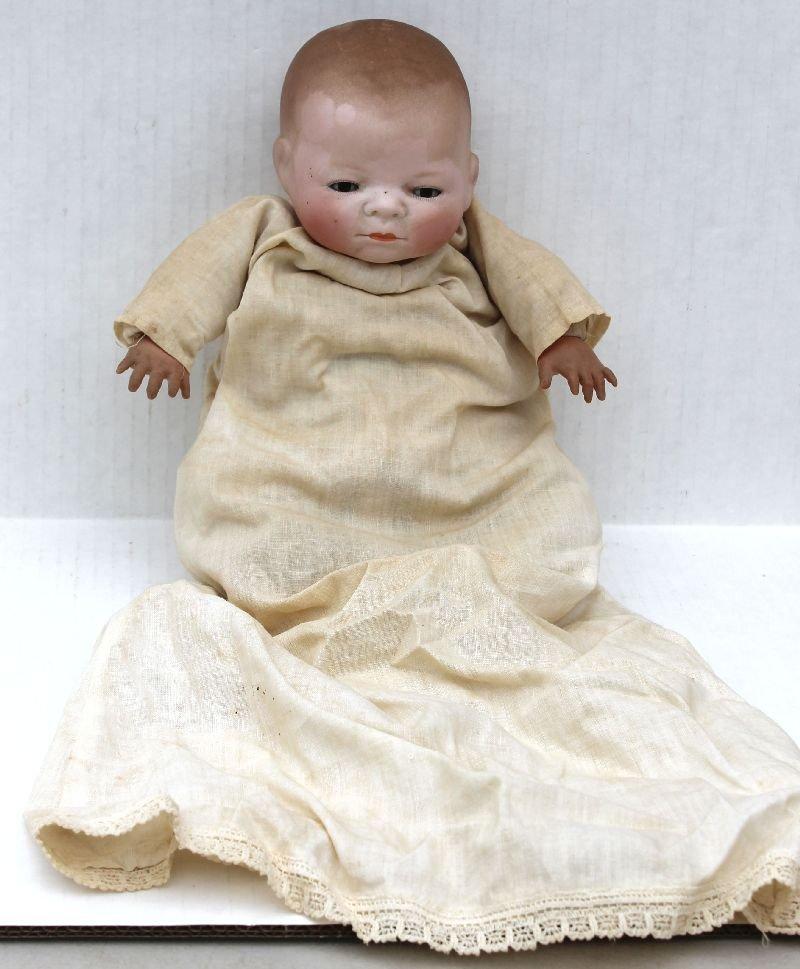 """12"""" Bye Lo Baby doll w sleep eyes all orig cloth body &"""
