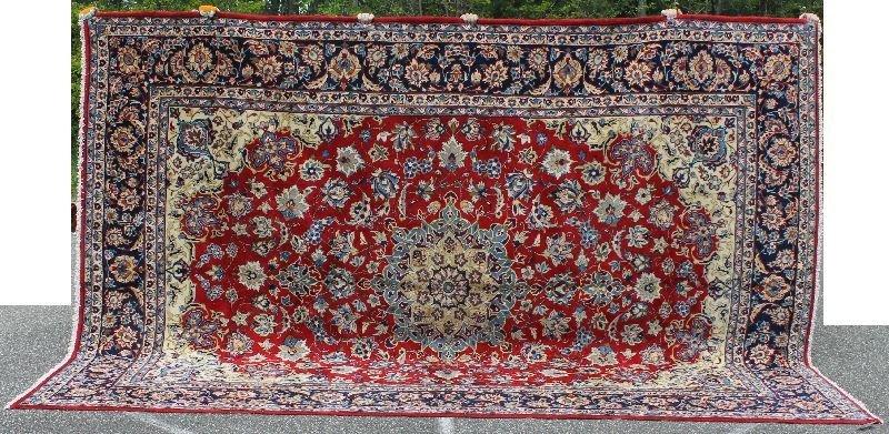 "10'x13'8"" semi antique Persian Isphahan room size rug -"