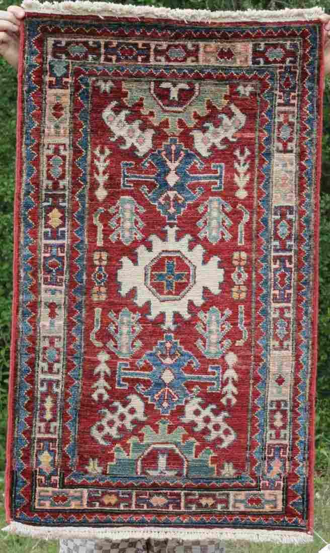 """2'2""""x3'5"""" Kazak Oriental small area rug"""