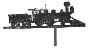 rare ca 1900 New England sheet zinc locomotive w tender