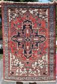 3x44 semi antique Persian Heriz Oriental area rug