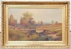 "Harvey Otis Young (1840-1901) very large 30""x48"" o/c"