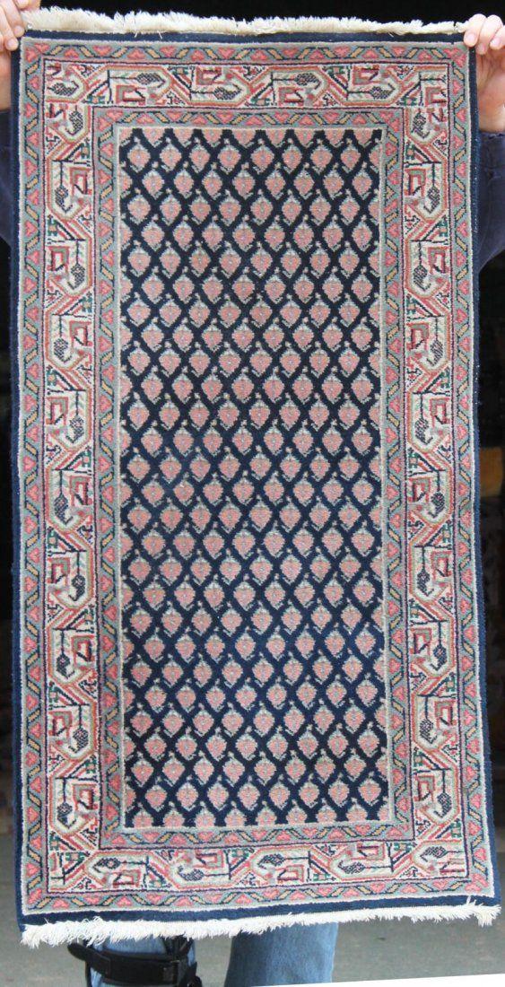"2'1""x3'9"" semi-antique Persian Mir Sarouk Oriental area"