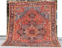 "fine antique Persian Heriz/Serapi 8'8""x11'5"" Oriental"