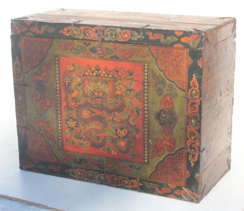 antique Chinese vestment box for monastery festivals fe