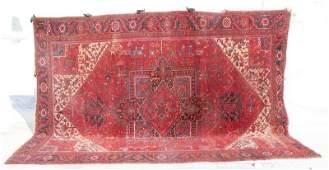 "Large 9'10""x13'1"" semi-antique Persian Heriz room size"