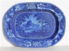 1st Q 19thC Historical Blue Staffordshire platter by R.