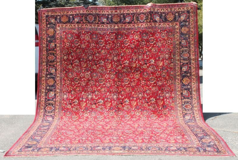 """9'6""""x12'2"""" semi-antique Persian Mashed rm size Oriental"""
