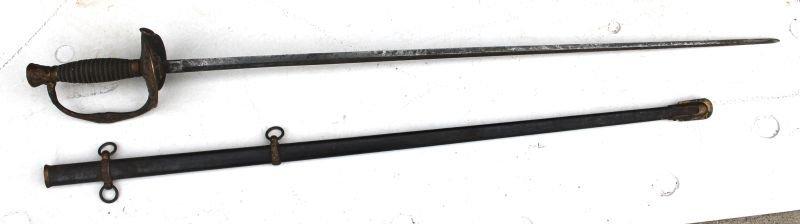 Civil War sword in sheath Model 1860 (?) unmarked - 34