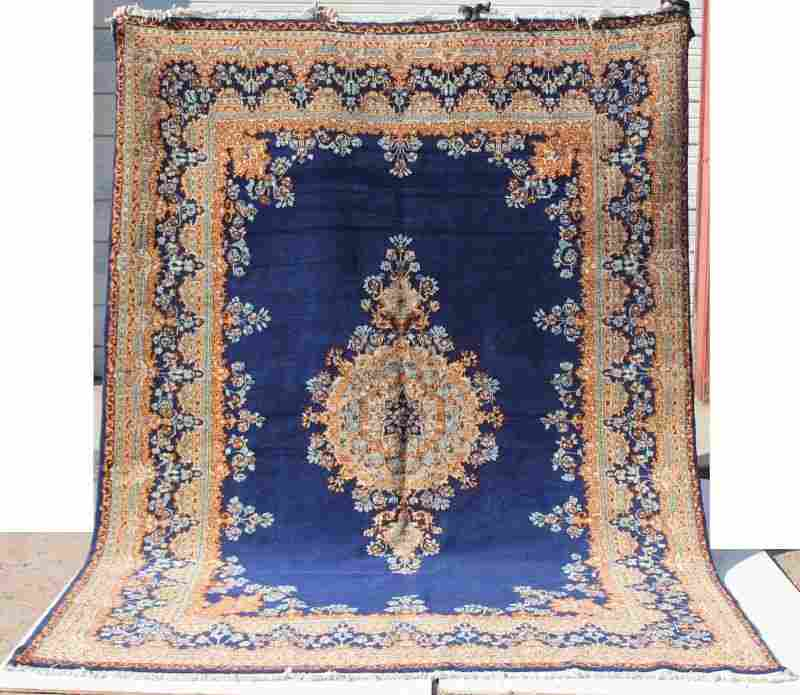 "7'2"" x 10' semi-antique Persian Kirman Oriental rm size"