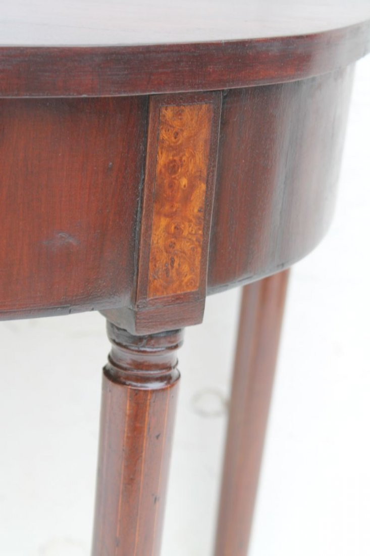 ca 1800 period Sheraton bow front hall table w unusual  - 2
