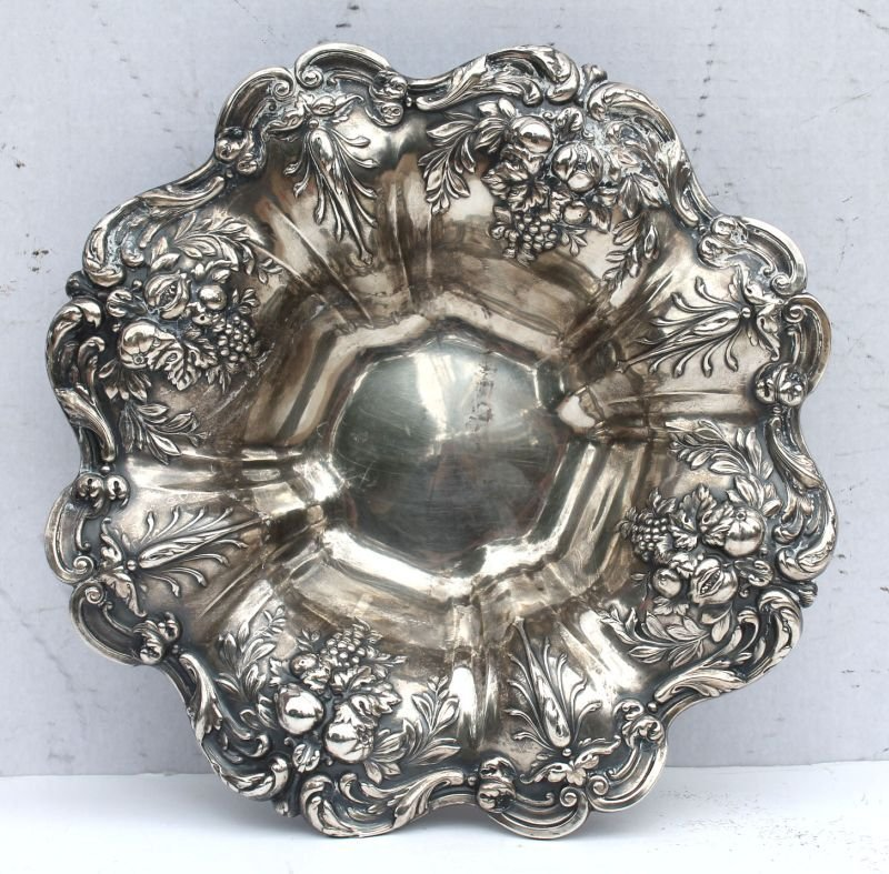 """Reed & Barton """"Francis I"""" sterling silver scalloped"""