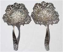extremely fine & rare pr of late 19thC Whiting sterling