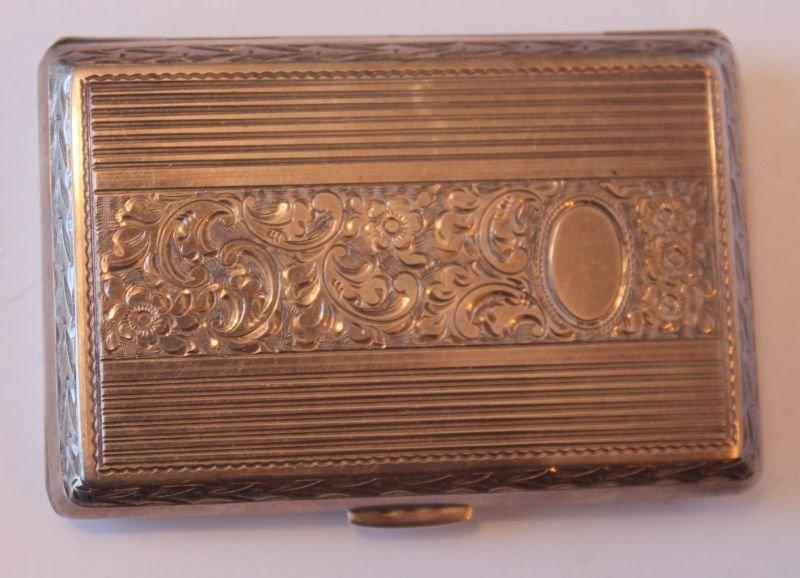 antique .900 silver engraved floral dec cigarette box -