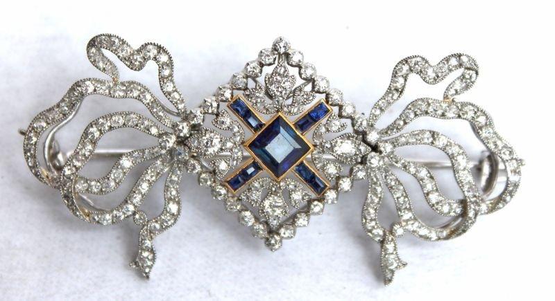 """Important ca 1905 Cartier Paris """"Edwardian"""" platinum,"""