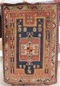 Rare  fantastic 19thC American hooked rug in an
