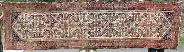"3'7""x13'7"" antique Persian Hamadan Oriental corridor"