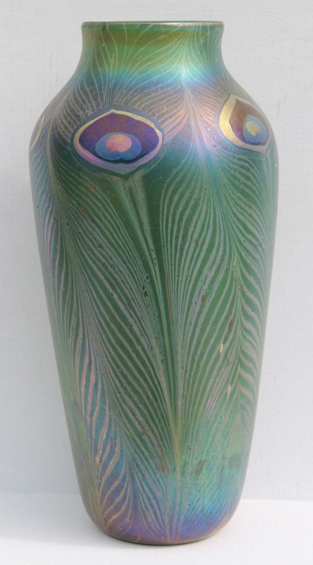 """Important sgnd Tiffany monumental size 19 1/4"""" tall"""