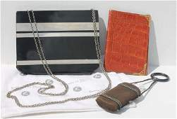 very good Art Deco lot incl alligator leather wallet by