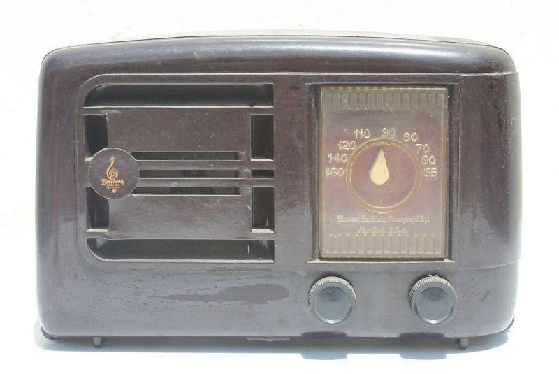 "Emerson Radio New York USA Table Top Bakelite Case- 7"""