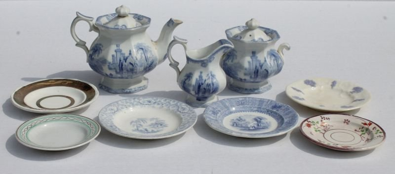 lot of 9 pcs of mid to late 19thC child's porcelain