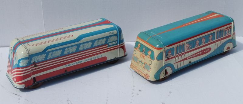 """lot of 2 Wolverine buses - each 14"""" long"""
