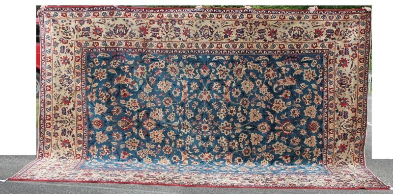 "Fine 10'x13'9"" Semi-Antique Persian Isphahan Oriental"