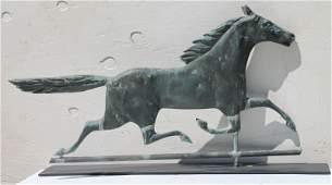 "ca 1880 wonderful ""Smuggler"" copper running horse"