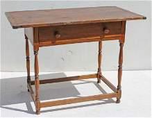 Early ca 1730-1750 MA maple & pine Wm & Mary stretcher