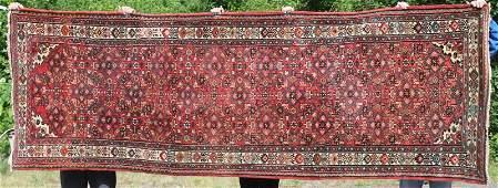 "3'5""x10'8"" semi-antique Persian Hamadan Oriental"