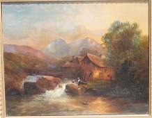 """19thC 12"""" x 15"""" o/c very well executed landscape"""