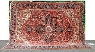 """8'10"""" x 12' antique Persian Heriz room size Oriental"""