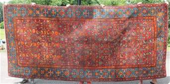 "5'10""x12'9"" semi-antique Persian Bidjar rm size"