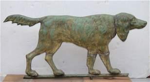 late 19thC rare Setter dog copper full bodied