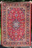 34x5 semiantique Persian Kashan Oriental area rug