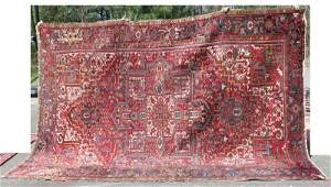"8'8""x12'2"" semi-antique Persian Heriz Oriental rm size"