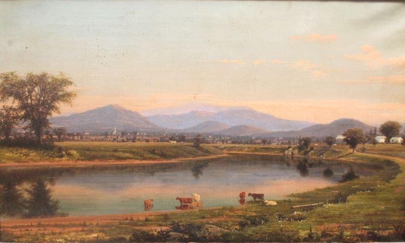 "Important George Fisher Daniels (1821-1879) 24""x40"" o/c"