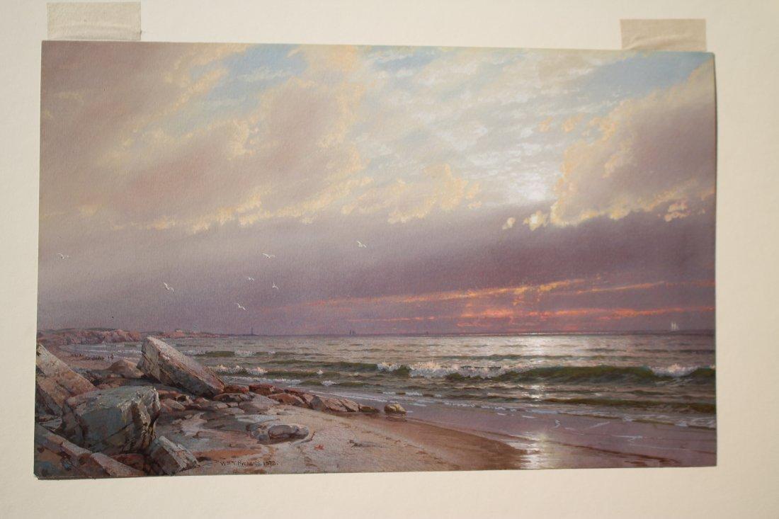 """Spectacular Wm Trost Richards (1833-1905) 9 1/2""""x15"""""""